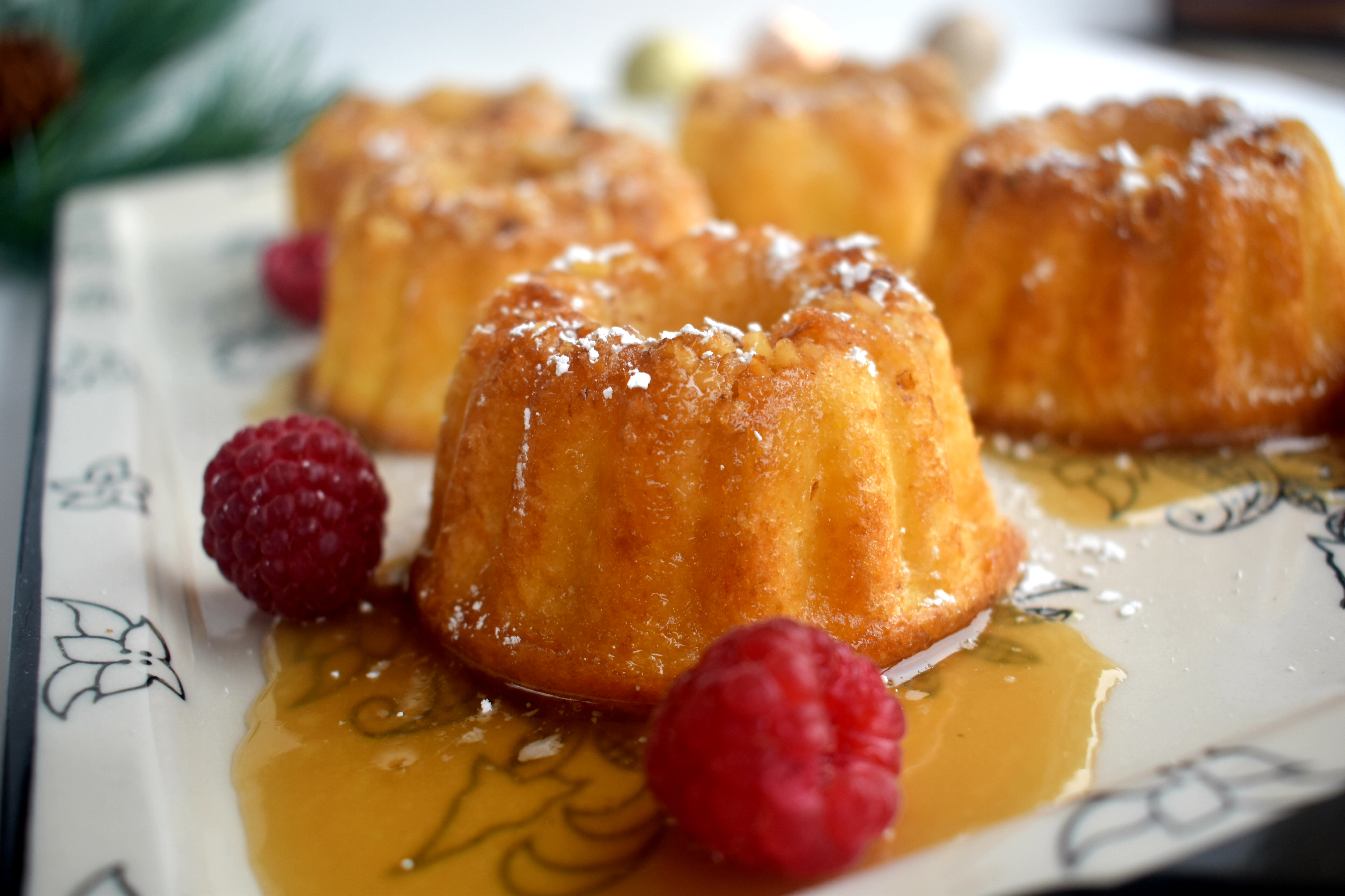 Sugary rum soaked mini yellow cakes