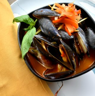 Penn Cove mussels get steamed in a coconut red curry broth