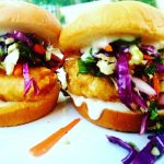 Spicy mayo gives this Asian Fusion Fish Sandwich a bit of a kick.