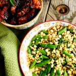Simple, fresh corn and peas lightly sauteed are the perfect summer side dish