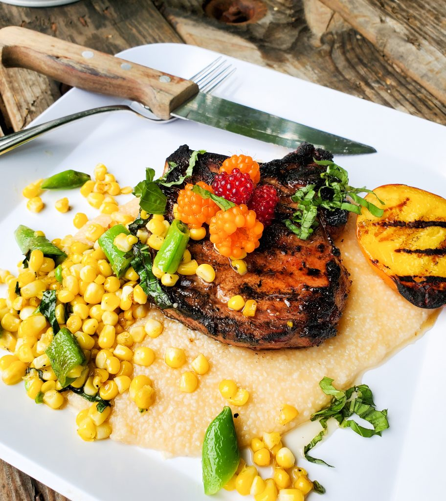 Balsamic & Hot Honey Grilled Pork Chops are sweet and tangy with a slight touch of heat and char from the grill.