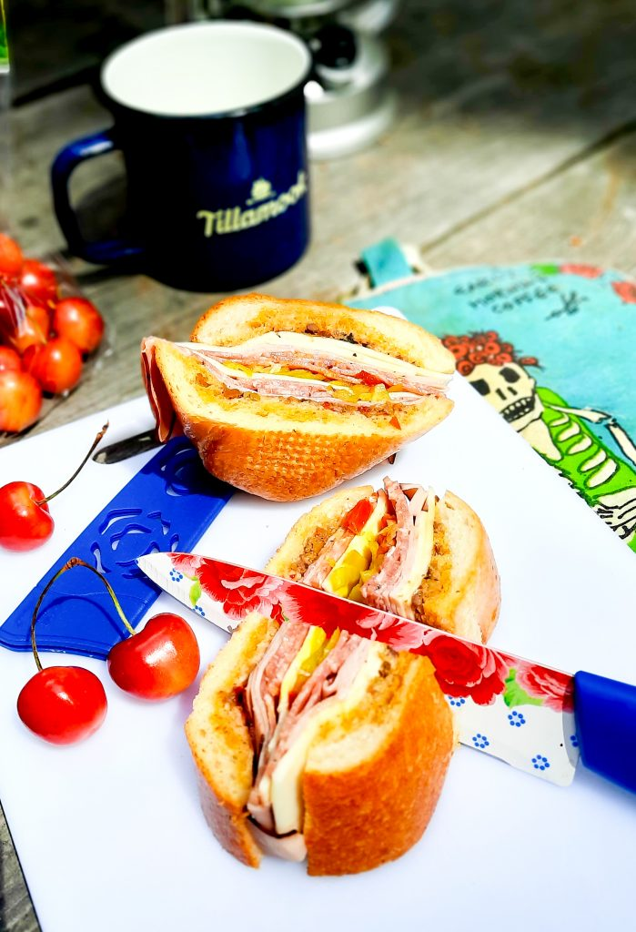 Make ahead Muffuletta sandwich