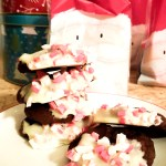 Rich, chewy White Chocolate Peppermint Dipped Chocolate Cookies make Christmas extra special.