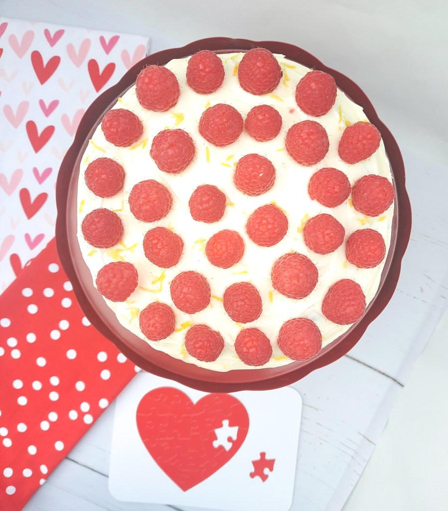 Valentine's Raspberry Lemonade Pound Cake