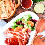 Tequila Orange Ham and Smoked Citrus & Butter Lettuce Salad