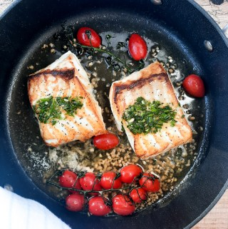 Pan seared halibut ready in 6 minutes
