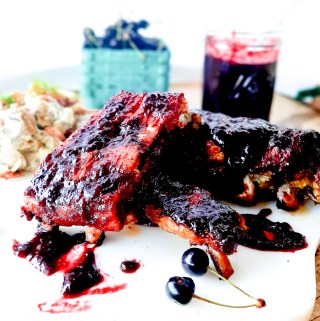 Sweet and smoky Chipotle Cherry Spare Ribs are slow cooked with a dry rub, then finished in the most delicious farm fresh cherry sauce.